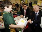 AN EXCITED buzz filled the room as Premier Campbell Newman mingled with the next generation at Narangba State School last Thursday.