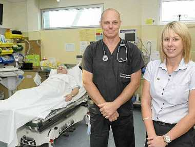 Gympie Hospital emergency department director Dr Jason Lindeman and nurse unit manager Kymberley Cable.