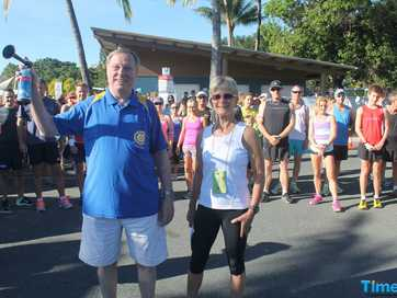 RUNNERS from across the state hit the pavement for the tenth annual Run for a Cure event held at the Airlie Beach Lagoon on Sunday.