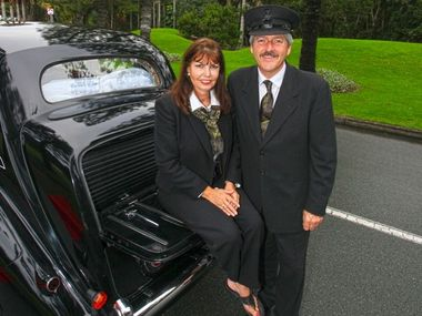 Lynda and Patrick Herron of Private Transfers love their 1950 Mark VI Bentley Birti.