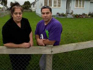 Glen Innes residents artist Emily Karaka and community worker Tamati Patuwai oppose the plan to develop the area.