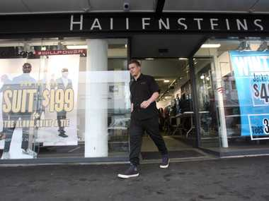 EXODUS CONTINUES: Men's clothing retailer Hallensteins is closing its Queen St branch in Masterton on July 30. PHOTO/LYNDA FERINGA