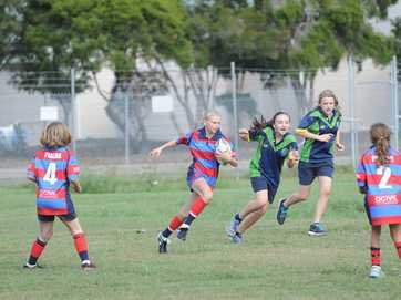 More than 190 students took part in this year's Hervey Bay primary schoolgirls rugby league trials at Stafford Park.