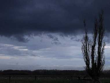Clouds loom ominously over Hawke's Bay with the Antarctic blast expected to bring snow, heavy rain and strong winds.