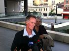 Eric Wilson speaks to media outside Brisbane court