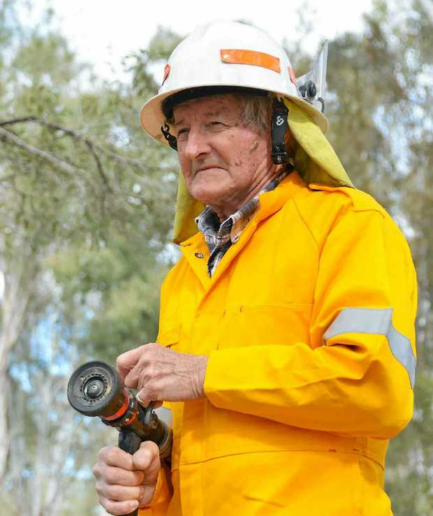 DEVOTED: Volunteer firefighter Greg Hunter has been protecting the community for more than 60 years.