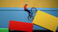 Danny MacAskill showing his skills on a specially-designed set inspired by his childhood.