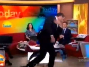 Karl Stefanovic storms out of studio on air over origin