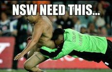 Facebook and Twitter are alive with comments and memes of the State of Origin III streaker.