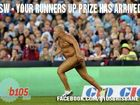 The crucial State of Origin decider was distrupted by a streaker ... and Facebook is making the most of it.