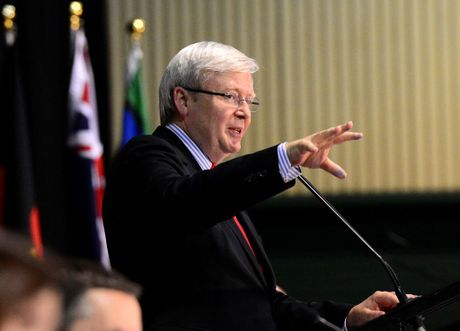 "PM Kevin Rudd said that arriving in Australia by boat will ""no longer mean settlement in Australia""."
