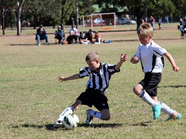 Junior football players battled it out at Valleys home ground on Saturday July 13.