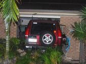 A DRUNKEN driver who ploughed his four-wheel-drive through the wall of a Pialba family home was sentenced to four-and-a-half years jail.