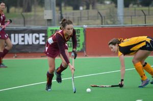 Savannah Fitzpatrick in action at the under-18 Women's National Hockey Championships, held on July 2nd - 13 in Canberra.