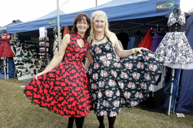 Image for sale: Retro Rockabilly's Lynda Roberts and Gay Williams knows what is in fashion at Fantastic Expo Photo Vicki Wood / Caboolture News