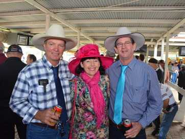 Fashionistas and their fellas headed to the track to check out the racing action in Wondai at the weekend.