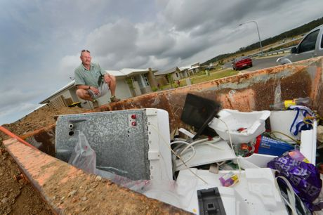 Builder angered by rise in illegal dumping on worksites for Gladstone builders