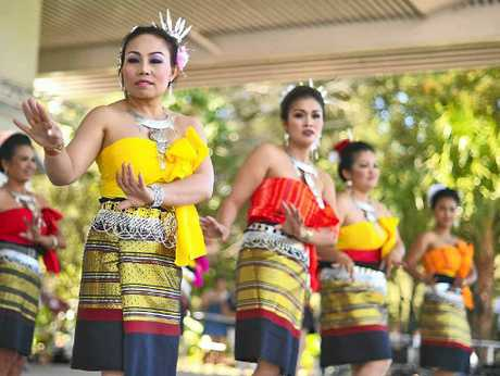GRACEFUL MOVES: Thai Community Dancers perform at last year's multicultural festival.