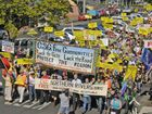 An anti-CSG rally in Lismore drew more than 7000 people last year.