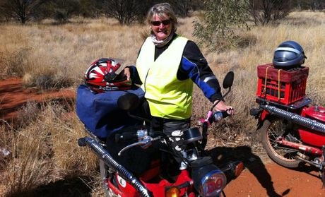 Kath at the alice springs turn off on stuart hwy in 2011 contributed
