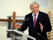 FORMER Prime Minister Kevin Rudd has officially handed in his resignation from the parliament.