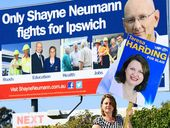 BLAIR MP Shayne Neumann's campaign slogan is ruffling feathers as the race to Canberra heats up.