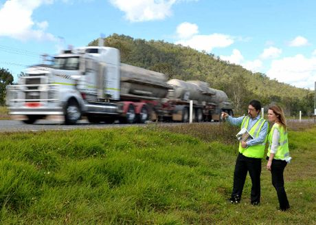 RACQ executive manager of public policy Michael Roth and media adviser Renee Smith are travelling the Bruce Hwy to identify issues and funding required to fix the route.