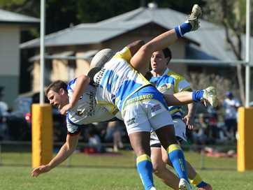 The Murwillumbah Mustangs showed great fight and composure to beat the Grafton Ghosts at Stan Secombe Oval today to book a place in the NRRRL grand final.