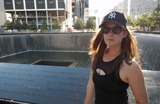 APN reporter Emily Prain at the September 11 memorial in New York.