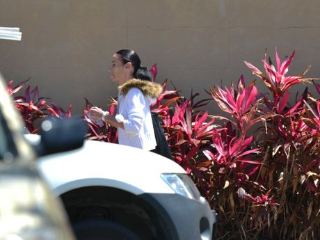Amanda Mavis Gannon leaves the Mackay Court House.