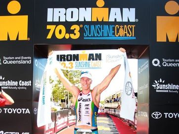 Action and socials from the inaugural Ironman 70.3 Sunshine Coast at Mooloolaba.