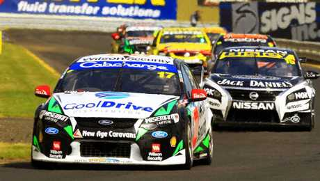 Ash Walsh in action with the V8 Supercars.