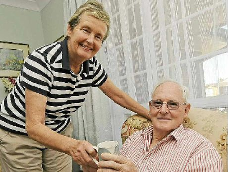 CHANGED LIVES: Helen Nicholson of Alstonville with her husband Stuart who suffers from dementia.