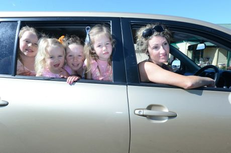 Kara Parrish of McLeans Ridges with her children, from left, Rose, 8, Annie, 3, Grace, 10, and Alice, 6.