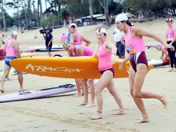 Veteran surf lifesavers from across the state took part in this year's Hervey Bay Masters.