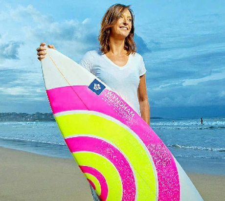 SURFING SUCCESS: Local businesses that book a conference at a Wyndham venue have the chance to win a guest appearance by champion surfer Layne Beachley.