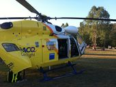 TWO children injured after a car carrying five people rolled near Tara in south-west Queensland have been airlifted to hospital.
