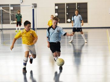 Images from a futsal competition at the Goonellabah Sports and Aquatic Centre.
