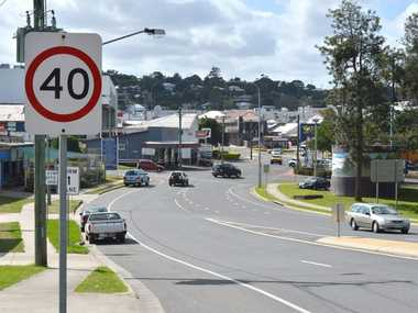 40kms speed sign Monkland Street, Gympie