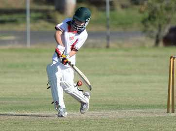 Some action from the weekends cricket.