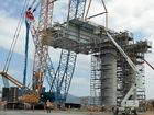 THE first stacker gantry has been lifted into place at the Wiggins Island Coal Export Terminal coal stockyard.