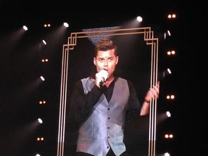 Ricky Martin concert at Brisbane Entertainment Centre