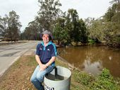 Cr Phil Pidgeon on Bayes Road, Logan Village. Photo Inga Williams / The Reporter