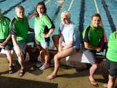 SEVEN competitors from the Ipswich City Masters Swim Club showed they can handle just about any distraction during a recent event off the Queensland coast.