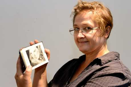 Maaret Sinkko with an artist book - part of 'New Salt' exhibition at CQ TAFE. Photo Sharyn O'Neill / The Morning Bulletin