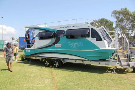 caravan that floats on road to spring home show