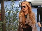 LINDSAY Lohan allegedly locked herself in her hotel room to avoid talking to the police.