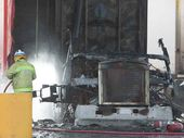 <strong>UPDATE: </strong>A Goondiwindi service station manager has recalled the truck fire which destroyed bowsers and forced a quick evacuation.