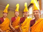 FOUR Tibetan Monks from India's Yerpa House Sera Mey Monastery finished their tour of Lismore by dissolving the sand mandala they spent the past week creating.
