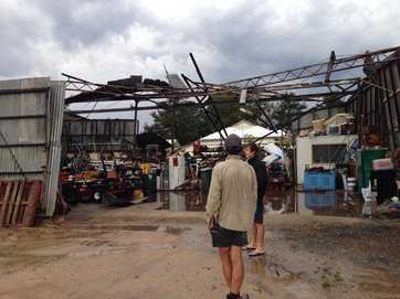 The top end of Stanthorpe was hit hard as a storm swept through town on Monday night.